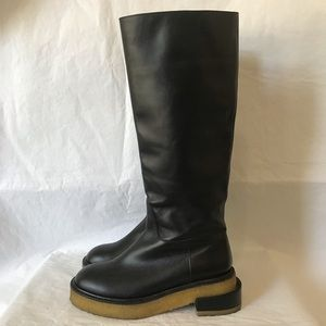 Frame Le Canon Leather Tall Riding Boots